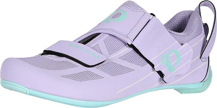 Pearl iZUMi Women's W TRI Fly Select V6 Cycling Shoe, White/Shadow Grey, 36 EU/5.2 B US