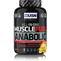 USN Muscle Fuel Anabolic Muscle Gain Shake Powder, Banana, 2 kg