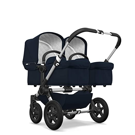 Bugaboo Donkey2 Classic Collection Bassinet, Dark Navy – Designer Fabrics for your Bassinet! Complete Your Double Stroller for Infant Twins!