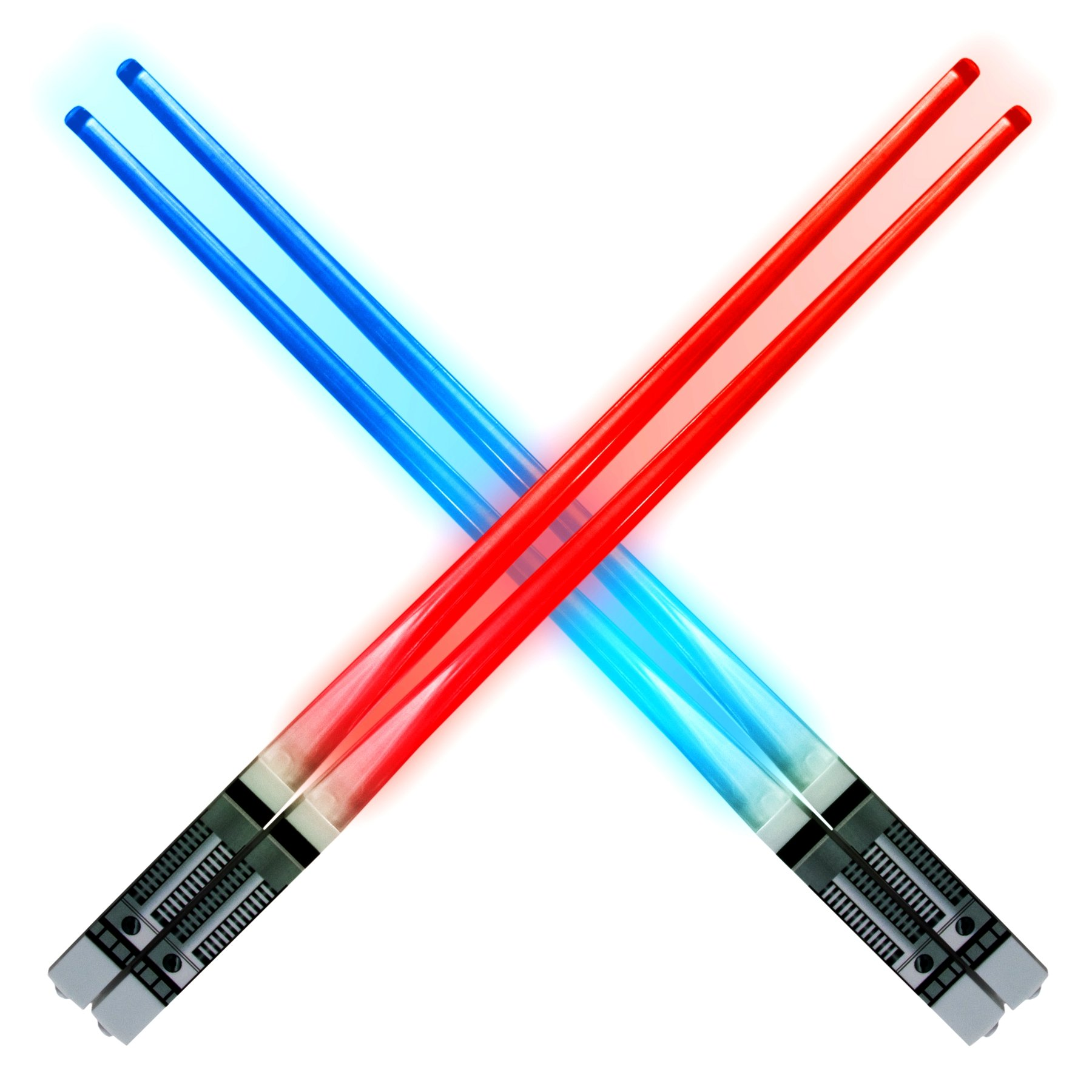 Lightsaber Light up LED Chopsticks Multi function for Star Wars Theme Party Fun for Gift Set [4 PAIR – RED/BLUE / GREEN/PURPLE SET] by Luxxis (Image #4)