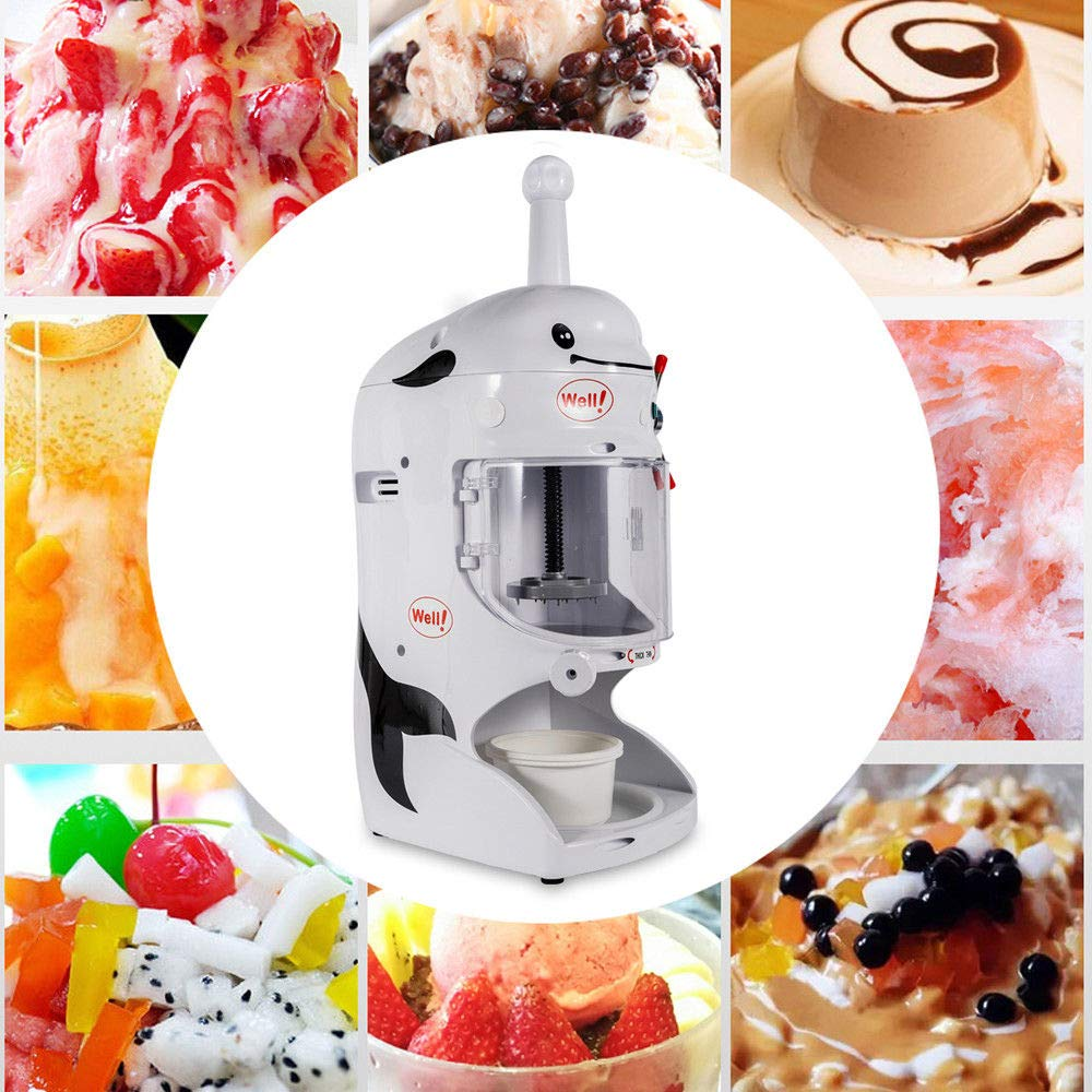 Shaved Ice Machines, 18KG 110V Commercial Snow Ice Block Shaving Machine Ice Crusher Shaved Ice Machine Snow Cone Machine Electric Shaved Ice Machine Snow Cone Shaver Ice 760 * 490 * 380mm, US STOCK by Feiuruhf (Image #5)