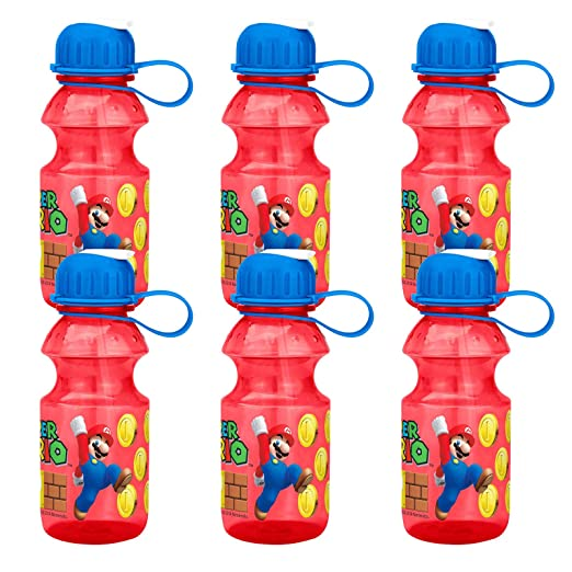 Amazon.com: 6 botellas de agua de plástico tritán para ...