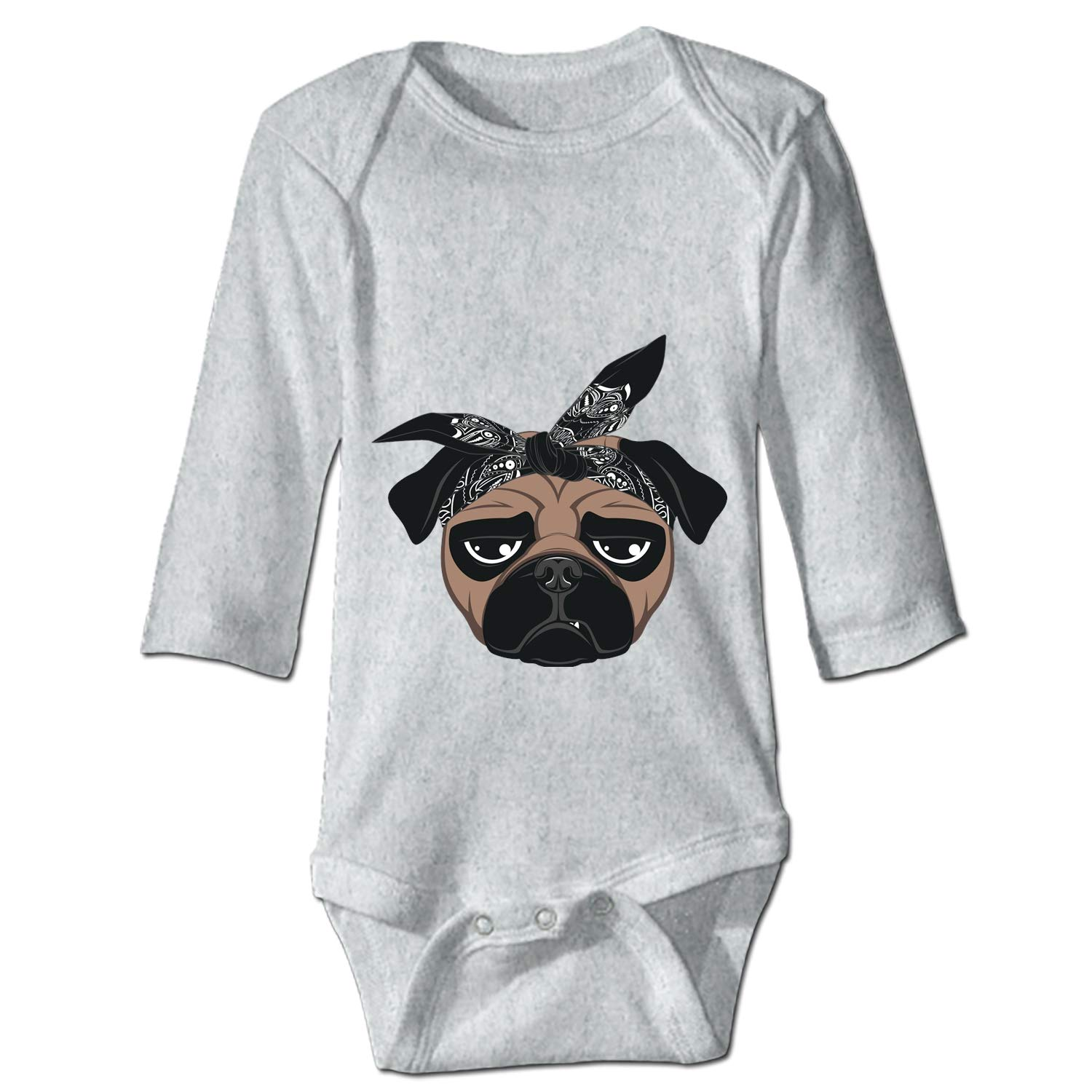 Funny Shirt I Love Pugs in Color Plain Gift Idea Romper Bodysuits