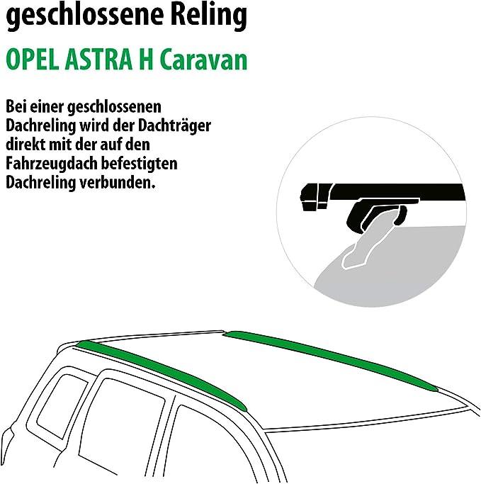 Rameder Komplettsatz Dachträger Pick Up Für Opel Astra H Caravan 111286 05145 3 Auto