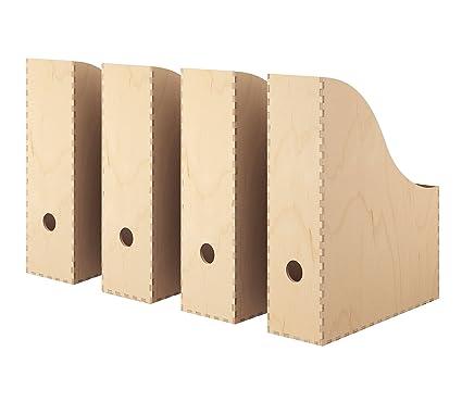 IKEA revistero, Natural Madera contrachapada de abedul [Set de 4] para el hogar