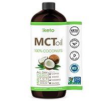 Keto Certified MCT Oil - Non GMO Project Coconuts - Flavorless - Paleo & Gluten...
