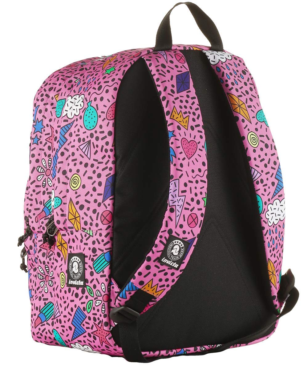 3d69fad7c1 ZAINO INVICTA - DIAL PACK FACE - Azalea Pink Rosa - tasca porta pc padded -  americano 38 LT: Amazon.it: Valigeria