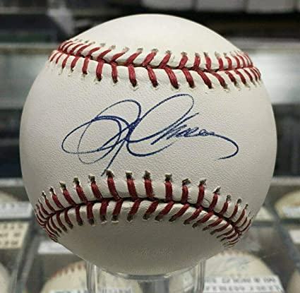 Autographs-original Useful Austin Jackson Autographed Signed Baseball Omlb Twins Marlins Baseball-mlb