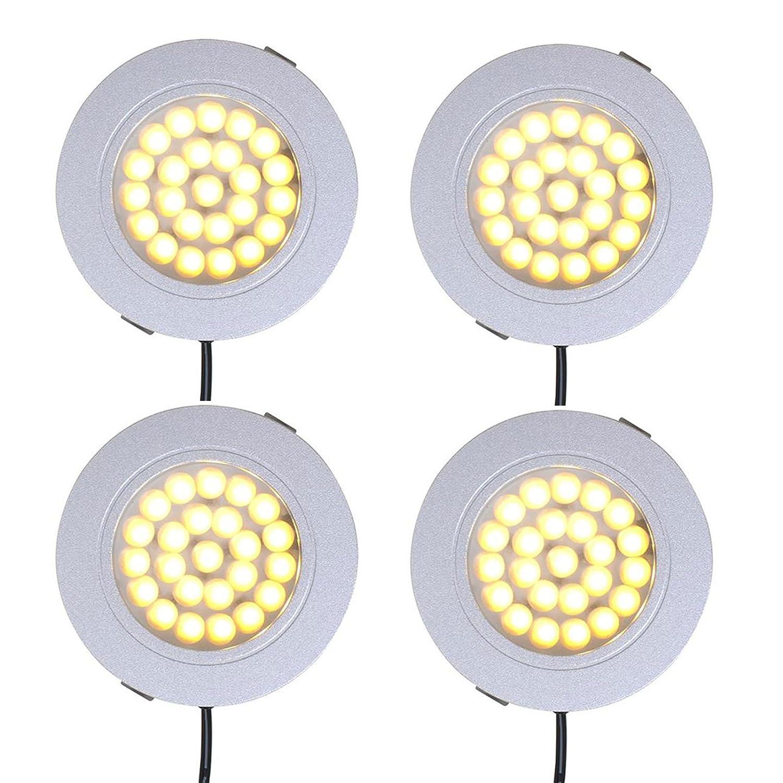 4er Set Wohnwagen Spot Einbauspot 24 LED-Deckenleuchte 12v, 220lm, Ø 65x11mm ProPlus