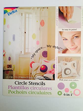delta polka dot circle wall stencils for polka dot theme kids room