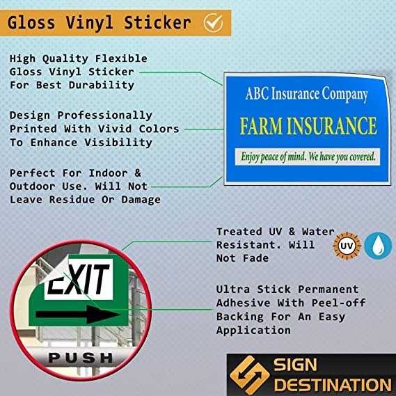 Custom Door Decals Vinyl Stickers Multiple Sizes Business Name Computer Repair Blue Business Computer Outdoor Luggage /& Bumper Stickers for Cars Blue 34X22Inches Set of 10