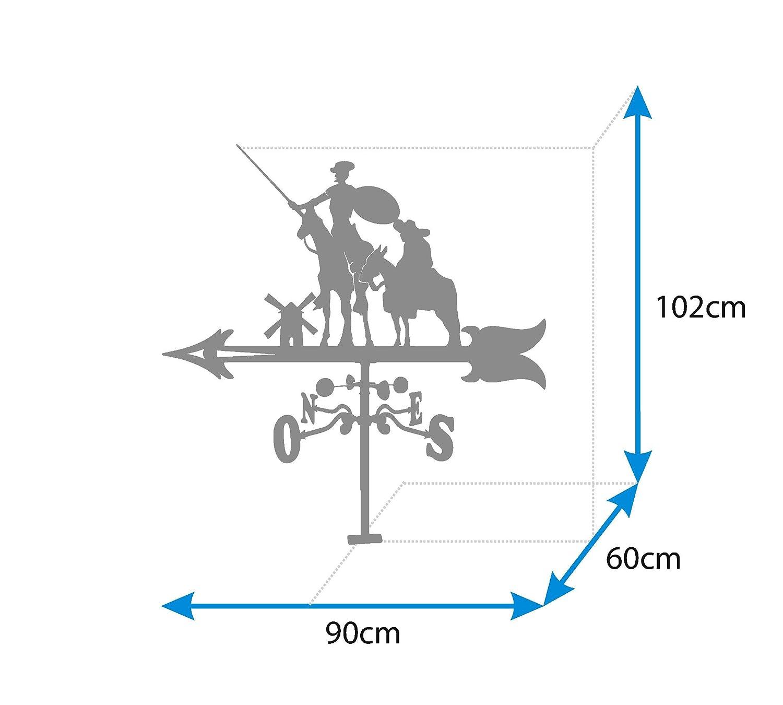 900/mm IMEX EL ZORRO 11025 Segnavento per Tetto Don Chisciotte e Sancio