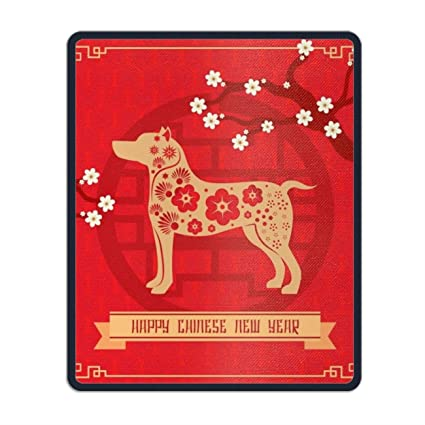 floral chinese new year background with dog mouse map pad with nonslip base 985x11