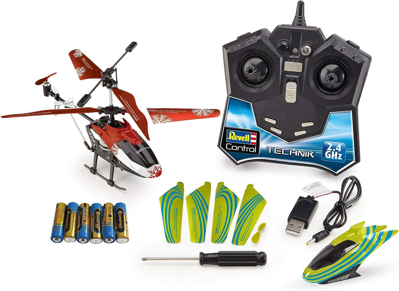 Revell 01028 Adventskalender RC Helikopter mit 2.4 GHz, LED-Beleuchtung, Gyro, inkl. Batterien in 24 Tagen zum selbstgebauten, ferngesteuerten Hubschrauber,...