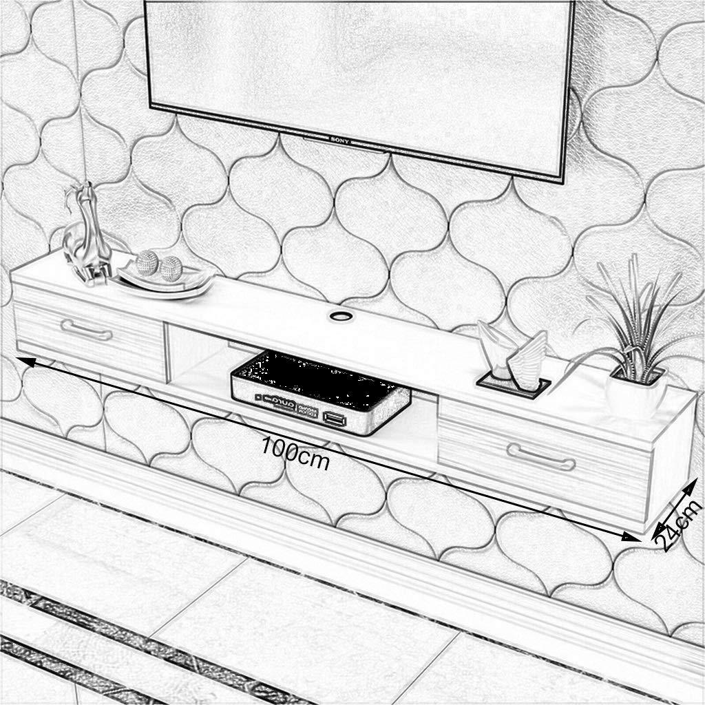 GLJJQMY WiFiルーターTVボックスセットトップボックススピーカーストリーミング機器ゲーム機用壁掛けフロートブラケット/ブラケット/ブラケット ウォールマウントシェルフ (色 : B, サイズ さいず : 120cm) B07QPCYR1D B 120cm