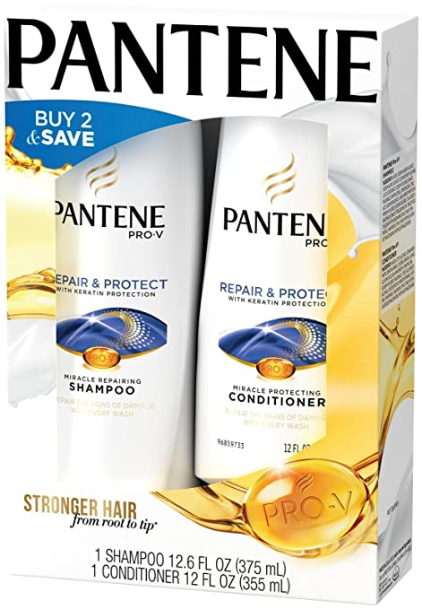 050d0269c2ce Buy Pantene Pro V Repair And Protect W  Keratin Shampoo (12.6 Oz) +  Conditioner (12 Oz) Online at Low Prices in India - Amazon.in