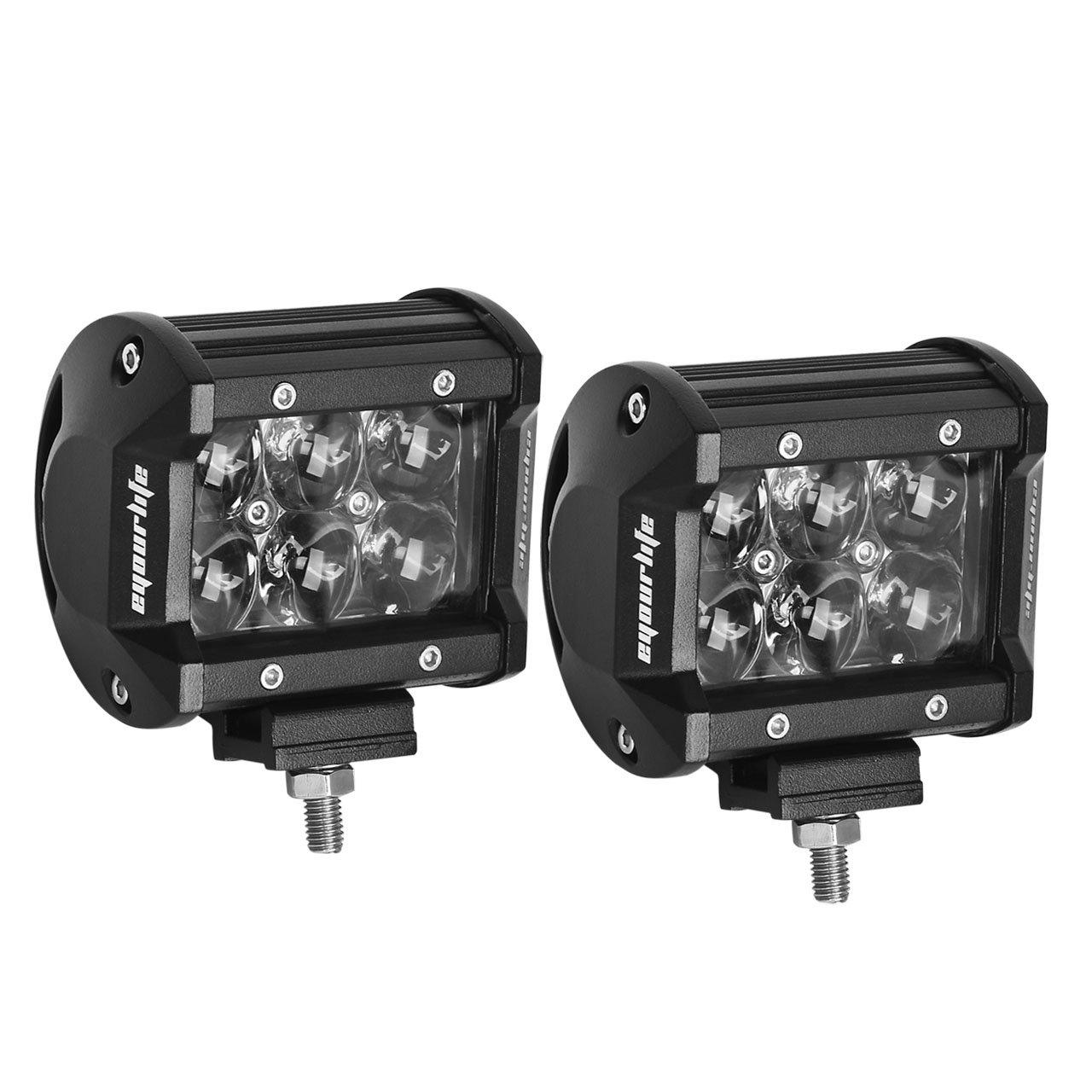 Amazon.com: Led Light Pods, Eyourlife 18W Fish Eye 4D Lens Flood ...