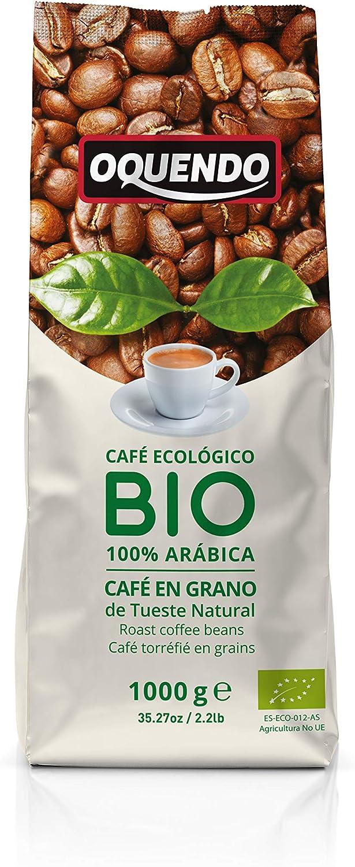 Oquendo - Café Bio en grano natural (Ecológico) - 1000 gr.: Amazon.es: Alimentación y bebidas