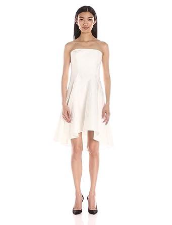 Amazon.com: HALSTON HERITAGE Women's Strapless Jacquard Dress ...