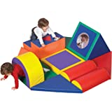 """Children's Factory Shape and Play Obstacle Course, 60"""" by 60"""" by 18"""" – 11-Piece Indoor Climber Builds Strength and…"""