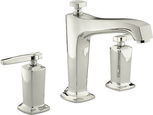 KOHLER K-T16237-4-SN Margaux Bath or Deck Mount Bath Faucet Trim with Lever Handles, Vibrant Polished Nickel
