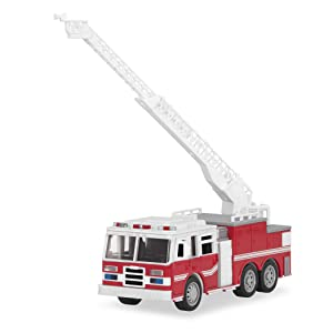DRIVEN by Battat — Micro Fire Truck — Mini Red Toy Fire Truck with Lights & Sounds For Kids 3+ & Up