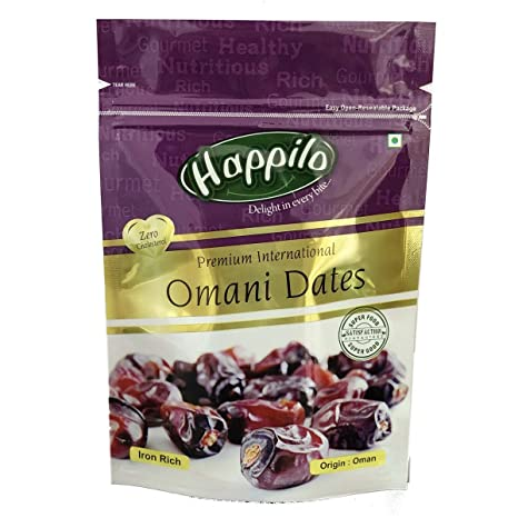 Happilo Premium International Omani Dates, 250g (Pack of 2)