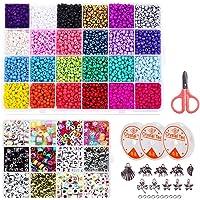 ESSEN 3800 pcs 4mm Seed Beads and 880 pcs Alphabet Beads Jewellery Making DIY Bracelet Craft Kit for Girls