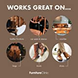 Furniture Clinic Leather Stain Remover - Aggressive Stain Cleaner Removes Stubborn Stains from Car Seats, Couches, Clothes, Shoes, Handbags & More 8.5