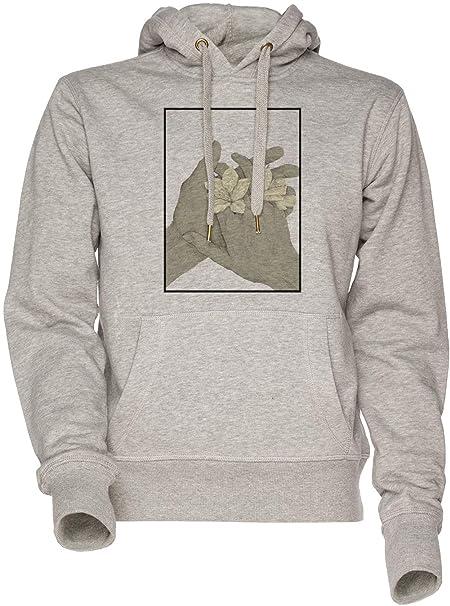 Yo Amor - japonés Unisexo Hombre Mujer Sudadera con Capucha Gris Mens Womens Hoodie Sweatshirt Grey