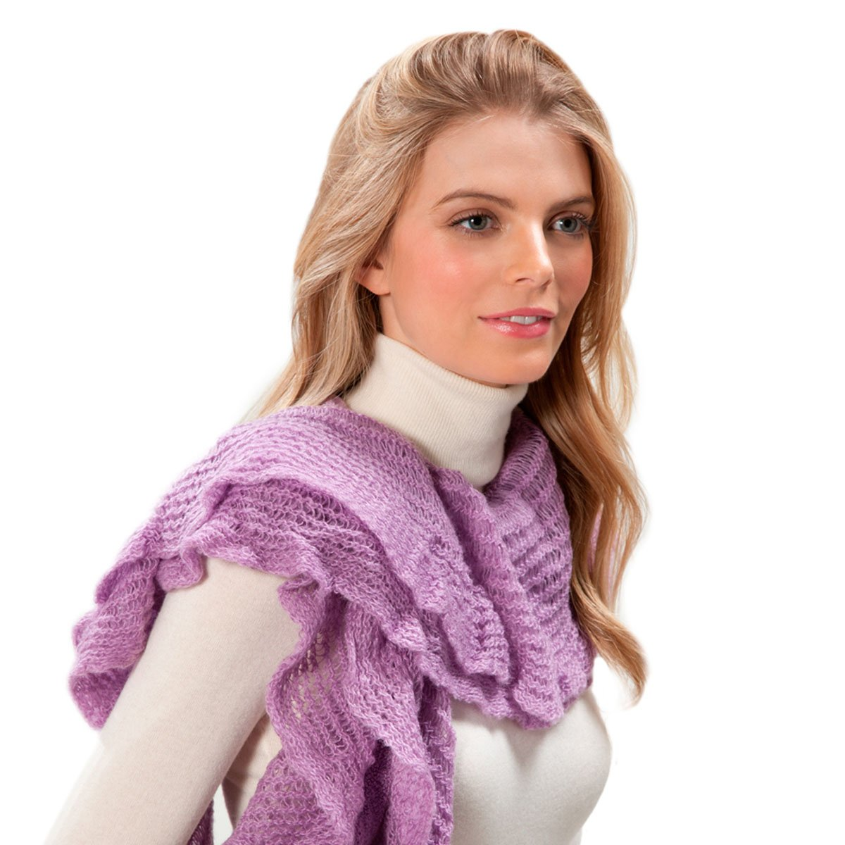 Eric Javits Luxury Fashion Designer Women's - Cascade Scarf - Orchid Mist by Eric Javits (Image #1)