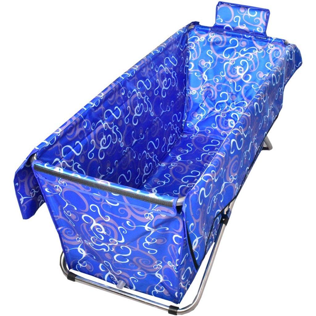 毎日の家 大人の折り畳み式浴槽ダークブルーパターン非膨張式厚い暖かい携帯用ポータブル子供/子供/両親のバスルームの家庭用品 B07MW4VG13