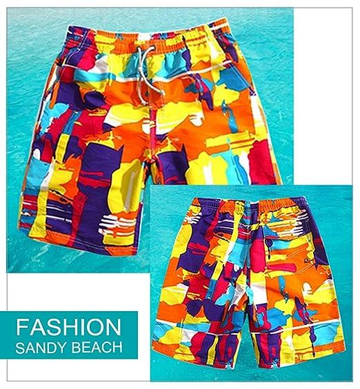 Tailor Pal Love - Bañador Básico Pantalones Cortos de Verano Beachwear para Hombre Surf Playa con Cordón Ajustable de… T9fzFtF