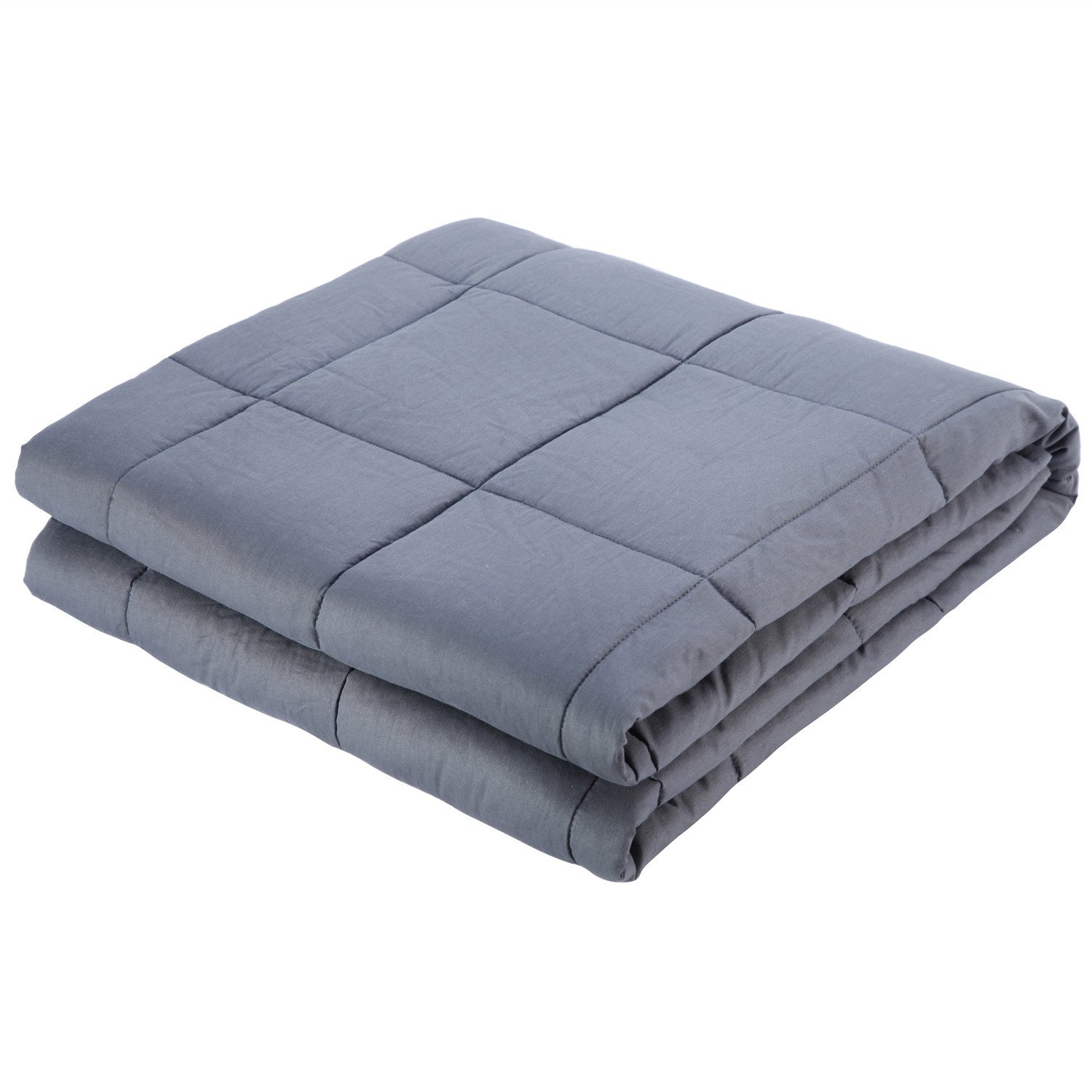 """Royhom Weighted Blanket for Man & Woman, Dark Grey 60"""" x 80"""" - 15lbs for 100-150lbs Individual, Great for Anxiety, Insomnia, Autism, ADHD, PTSD and sensory processing disorders"""