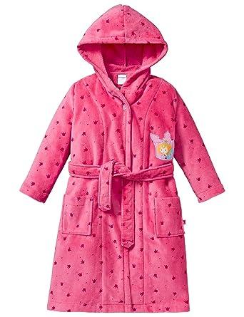 12c216ff15e1e Schiesser Prinzessin Lillifee Bademantel, Robe de Chambre Fille, Rouge  (Pink 504),