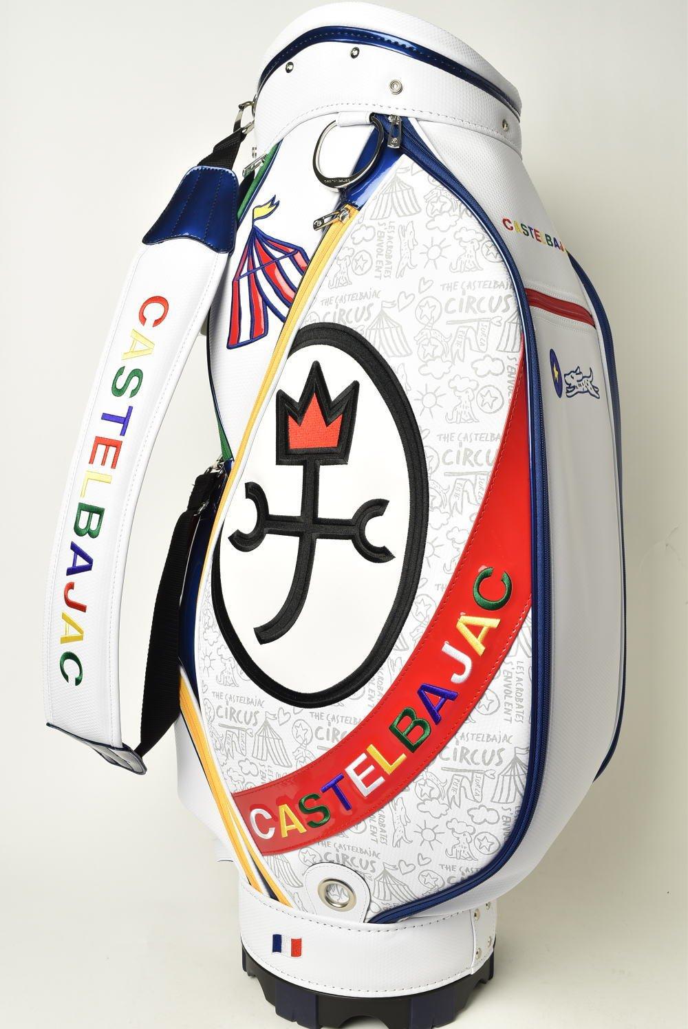 (カステルバジャック) CASTELBAJAC キャディバッグ メンズ スポーツ ゴルフ 23603-305 B07CKB1MNDホワイト(01)