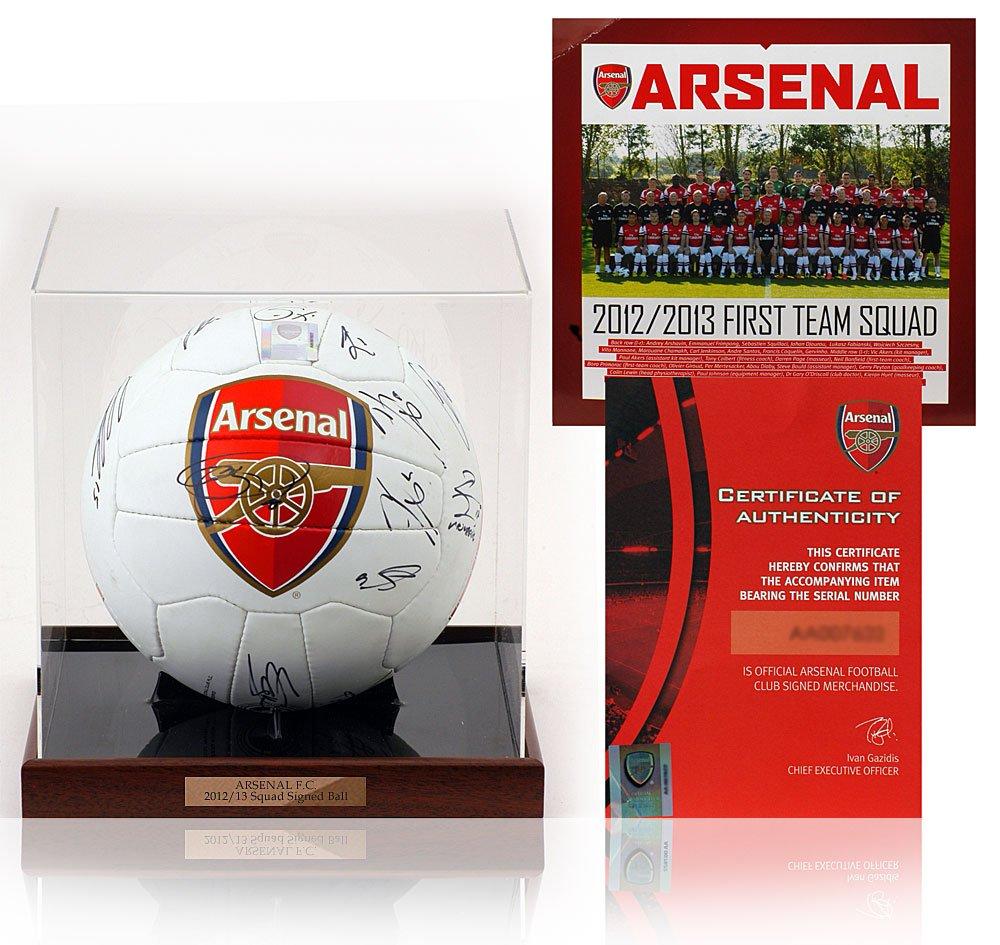 British Sports Museum ARSENAL FC 2012/13 - Balón firmado oficial ...