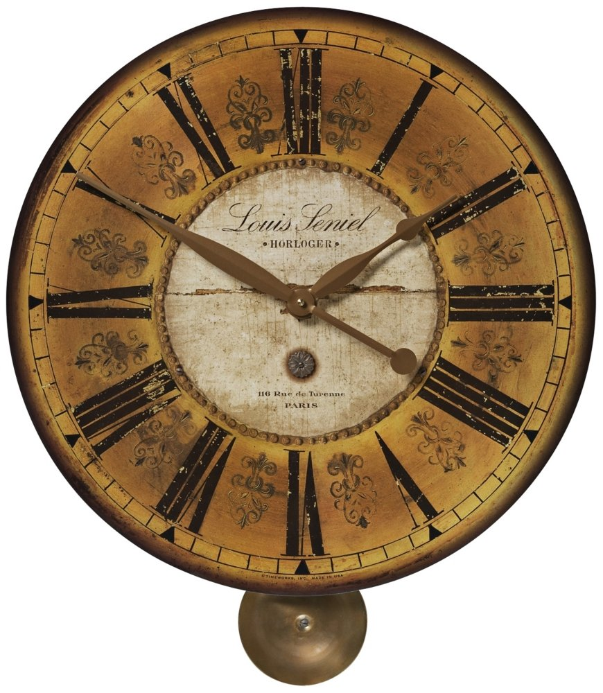 Amazon uttermost louis leniel wall clock home kitchen amipublicfo Image collections