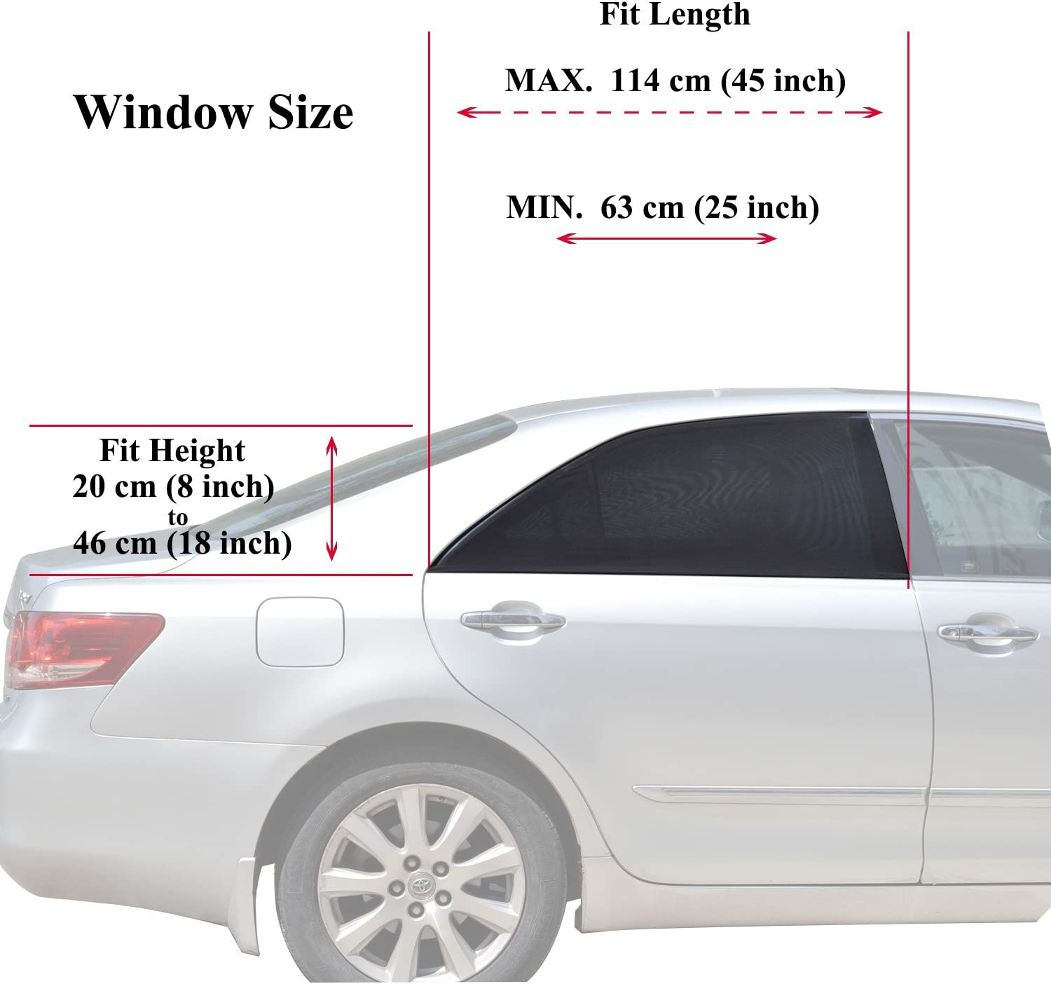 WANPOOL Universal Fit Car Side Window Baby Sun Shade Maximum Protection 2 Pieces Double Layer Design Protects Your Kids from Sun Burn