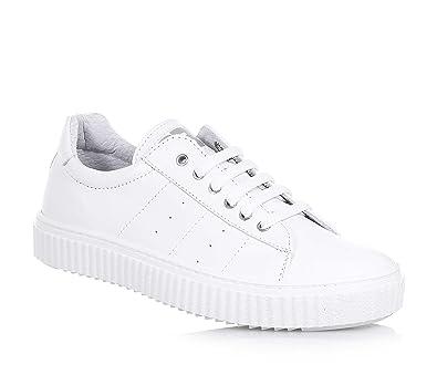 CIAO BIMBI - Weißer Schuh mit Schnürsenkeln aus Leder, in jedem ...