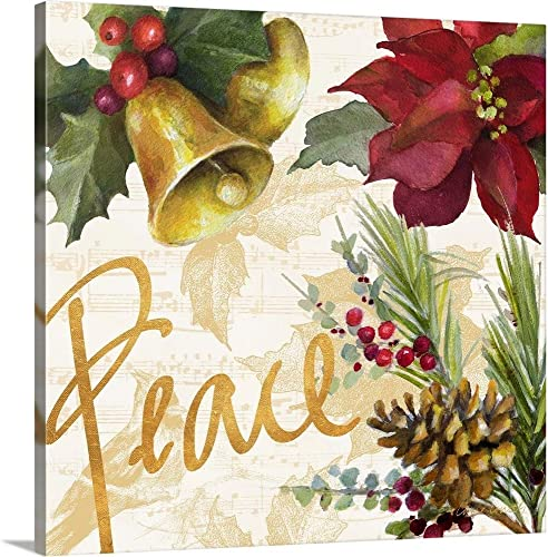 Christmas Poinsettia II Canvas Wall Art Print