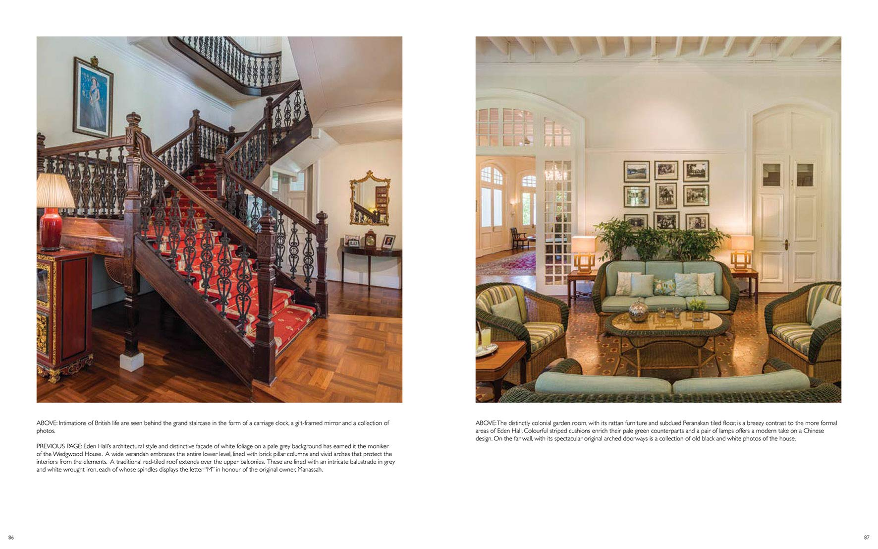 Singapore Colonial Style Interiors Of Black White Houses Charles