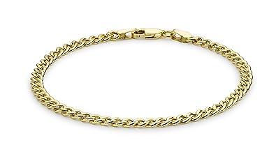 Carissima Gold Women's 9 ct Yellow Gold Hollow Figaro Bracelet 9laev4wz