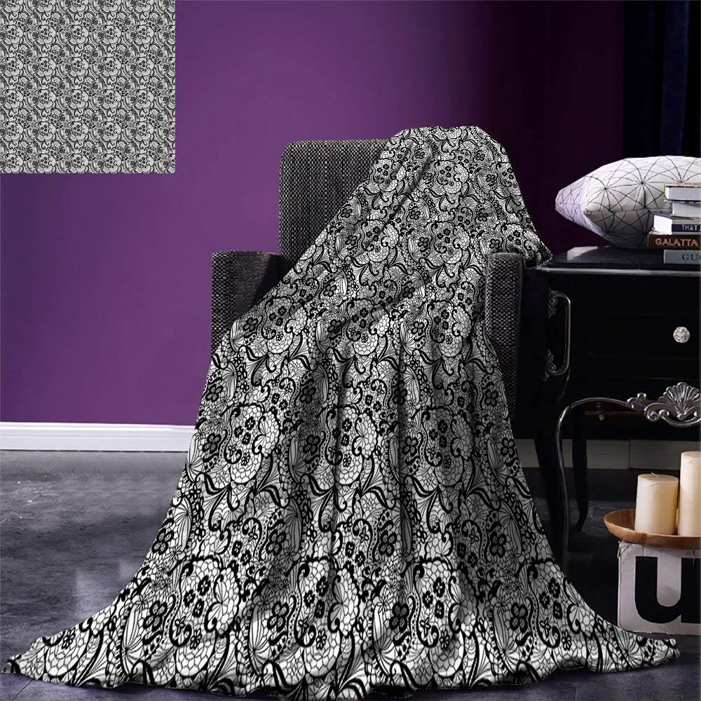 color10 60 x50  SINOVAL Gothic Warm Microfiber All Season Blanket Fantasy Scene with Old Fashioned Wooden Torch and Skull Candlesticks in Dark Spooky Room Print Artwork Image£¬Multicolor, Brown,Fashion Blanket