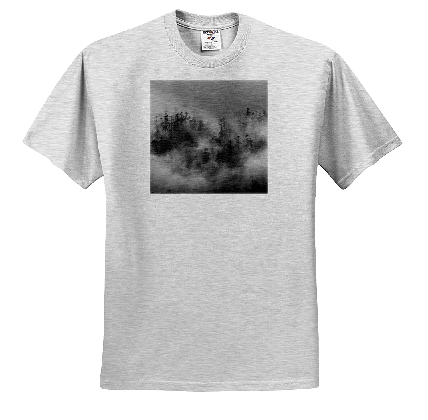 Bhutan 3dRose Danita Delimont Misty Forest ts/_312586 Adult T-Shirt XL Paro Valley Forests