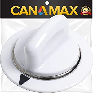 WE1M654 Dryer Timer Knob Premium Replacement Part by Canamax - Compatible with GE Dryers - Replaces AP3995088 WE1M443 WE1M502 1264290 AH1482197 EA1482197
