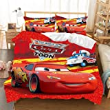 Supstar Kids Lightning McQueen Duvet Cover Bedding Sets Bed Without Comforter The World of Cars Toon 95 Twin R16