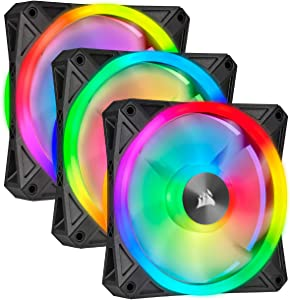 Corsair QL Series, Ql120 RGB, 120mm RGB LED Fan, Triple Pack with Lighting Node Core