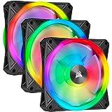 Corsair QL Series, Ql120 RGB, 120mm RGB LED Fan, Triple Pack with Lighting Node Core