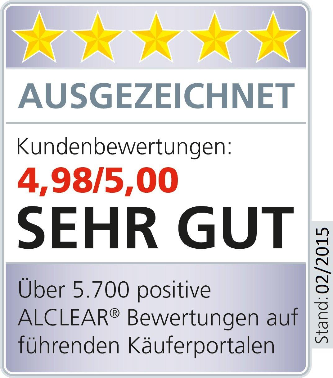ALCLEAR 820203K_2 2er Set Mikrofasertücher für Hochglanzküchen ...